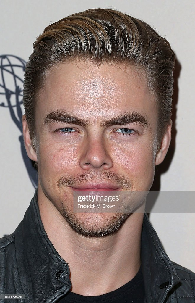 Choreographer <a gi-track='captionPersonalityLinkClicked' href=/galleries/search?phrase=Derek+Hough&family=editorial&specificpeople=4532214 ng-click='$event.stopPropagation()'>Derek Hough</a> attends The Academy Of Television Arts & Sciences' Presents 'The Choreographers: Yesterday, Today and Tomorrow at the Leonard H. Goldenson Theatre on November 1, 2012 in North Hollywood, California.