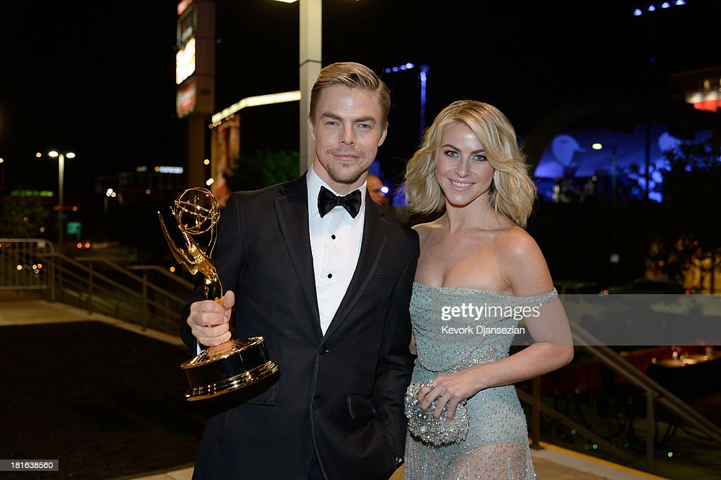 Choreographer <a gi-track='captionPersonalityLinkClicked' href=/galleries/search?phrase=Derek+Hough&family=editorial&specificpeople=4532214 ng-click='$event.stopPropagation()'>Derek Hough</a>, winner of the Best Choreography Award for 'Dancing With The Stars,' and actress <a gi-track='captionPersonalityLinkClicked' href=/galleries/search?phrase=Julianne+Hough&family=editorial&specificpeople=4237560 ng-click='$event.stopPropagation()'>Julianne Hough</a> attends the Governors Ball during the 65th Annual Primetime Emmy Awards at Nokia Theatre L.A. Live on September 22, 2013 in Los Angeles, California.