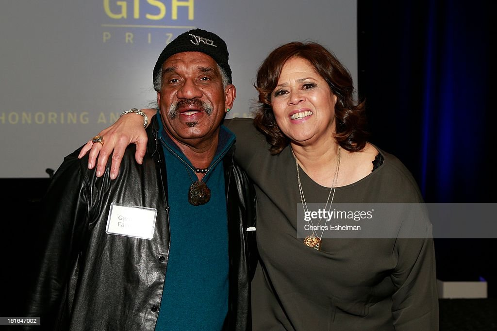 Choreographer Garth Fagan and Honoree <a gi-track='captionPersonalityLinkClicked' href=/galleries/search?phrase=Anna+Deavere+Smith&family=editorial&specificpeople=234428 ng-click='$event.stopPropagation()'>Anna Deavere Smith</a> (R) attends 19th Annual Dorothy And Lillian Gish Prize Ceremony at The Vista 1 Chase Manhattan Plaza on February 13, 2013 in New York City.