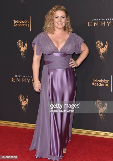 Choreographer Mandy Moore arrives at the 2017 Creative Arts Emmy Awards at Microsoft Theater on September 9 2017 in Los Angeles California