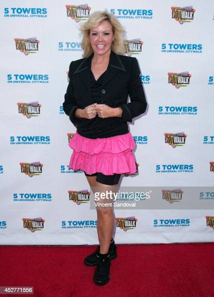 Choreographer Mary Murphy attends a flash mob at '5 Towers' stage for National Dance Day at Universal CityWalk on July 26 2014 in Universal City...