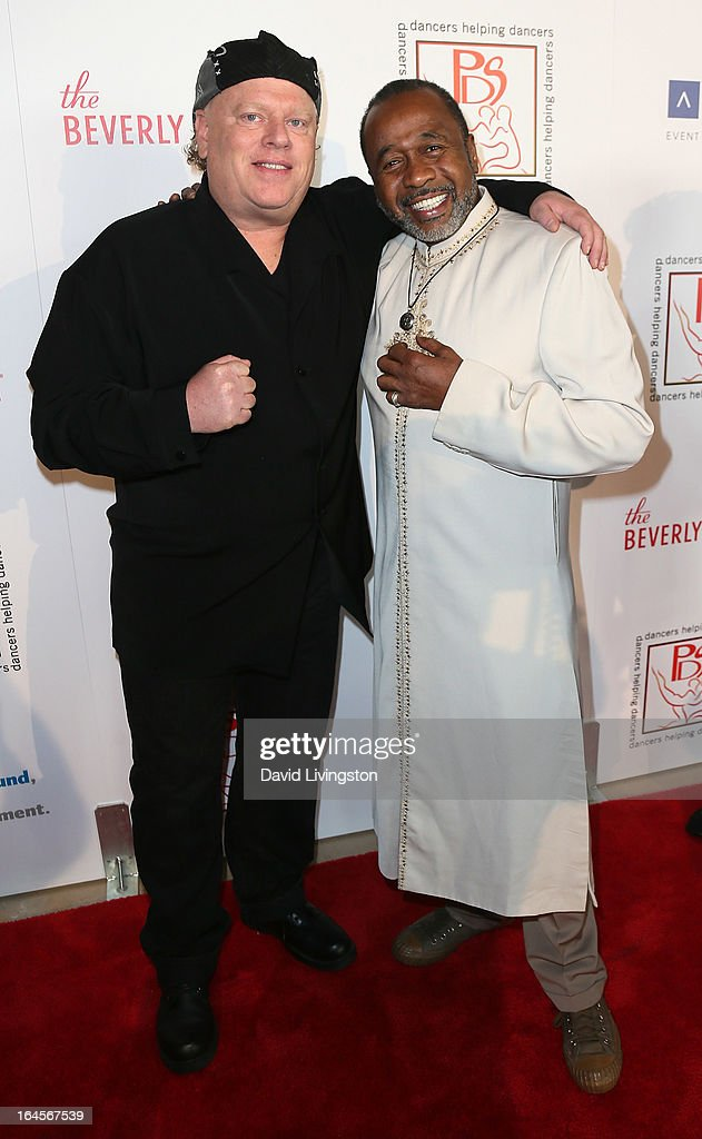 Choreographer Michael Rooney (L) and actor <a gi-track='captionPersonalityLinkClicked' href=/galleries/search?phrase=Ben+Vereen&family=editorial&specificpeople=241224 ng-click='$event.stopPropagation()'>Ben Vereen</a> attend the Professional Dancers Society's Gypsy Awards Luncheon at The Beverly Hilton Hotel on March 24, 2013 in Beverly Hills, California.