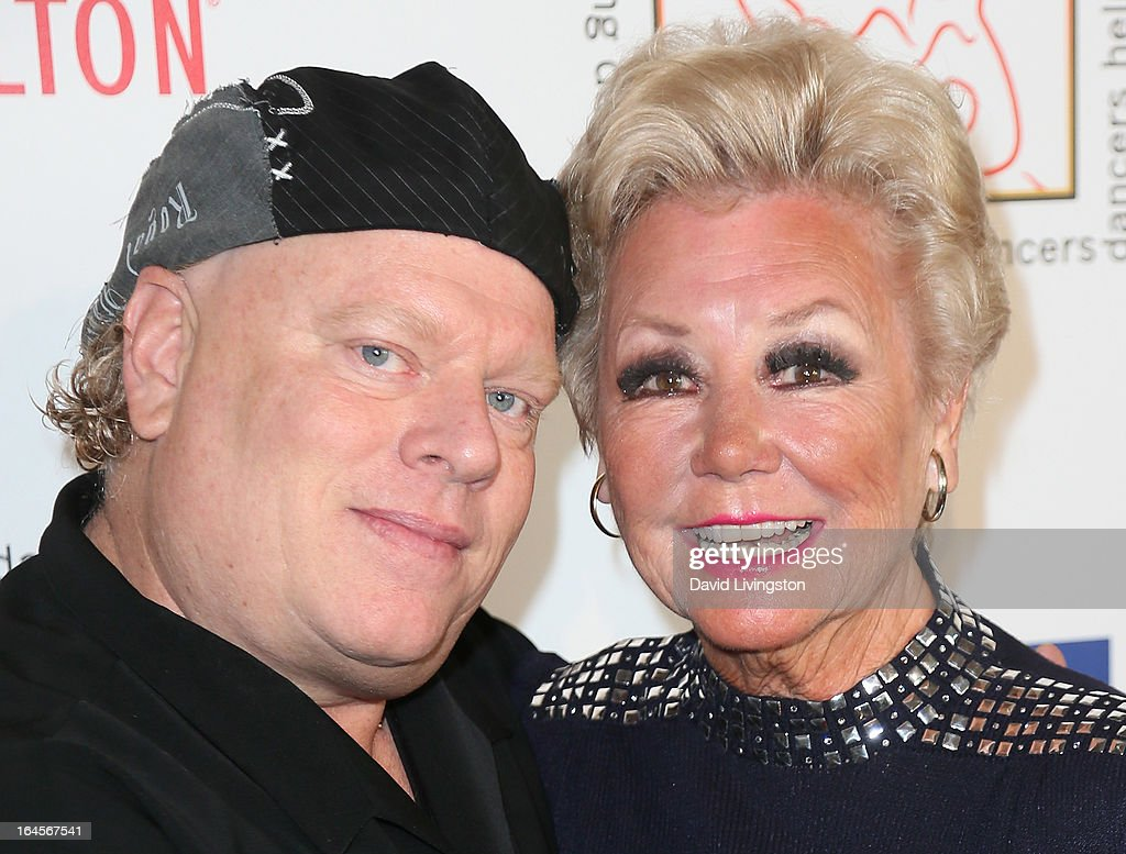 Choreographer Michael Rooney (L) and actress Mitzi Gaynor attend the Professional Dancers Society's Gypsy Awards Luncheon at The Beverly Hilton Hotel on March 24, 2013 in Beverly Hills, California.