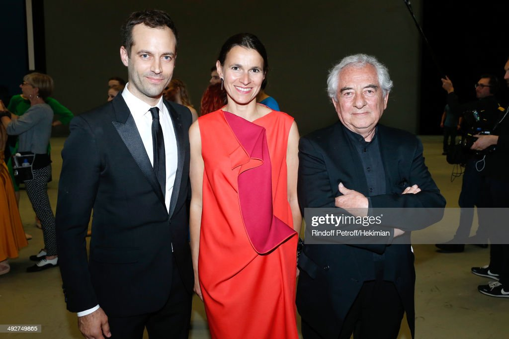 Choreographer of the show and new director of the Opera Benjamin Millepied, French Culture Minister Aurelie Filippetti and Contemporary Artist and creator of sets of the show Daniel Buren attend the AROP Charity Gala. Held at Opera Bastille on May 21, 2014 in Paris, France.