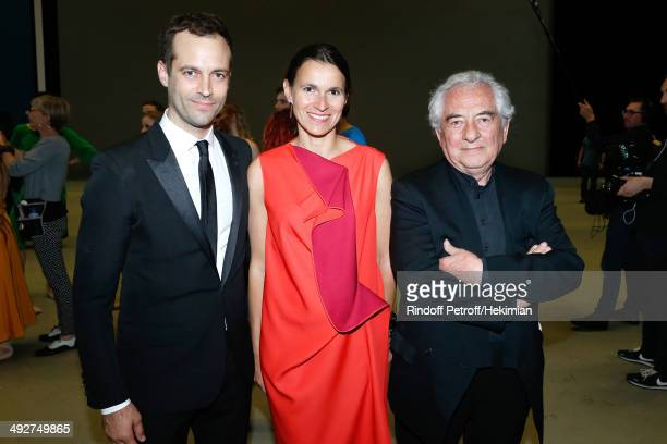 Choreographer of the show and new director of the Opera Benjamin Millepied French Culture Minister Aurelie Filippetti and Contemporary Artist and...