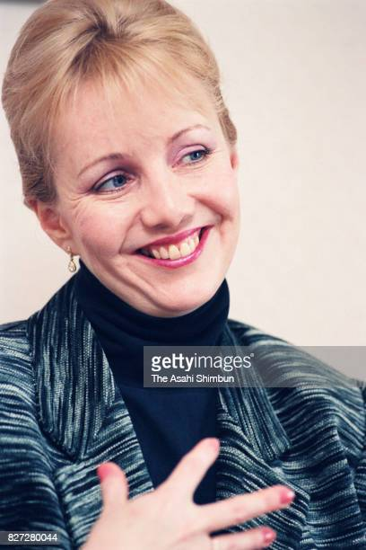 Choreographer Susan Stroman speaks during the Asahi Shimbun interview on March 10 1993 in Tokyo Japan