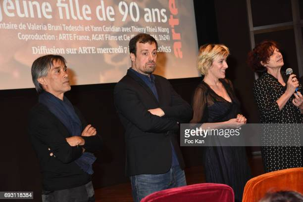 Choreographer Thierry Thieu Niang Co Director Yann Coridian Co director/actress Valeria Bruni Tedeschi and producer Marie Balducchi from Agat Films...