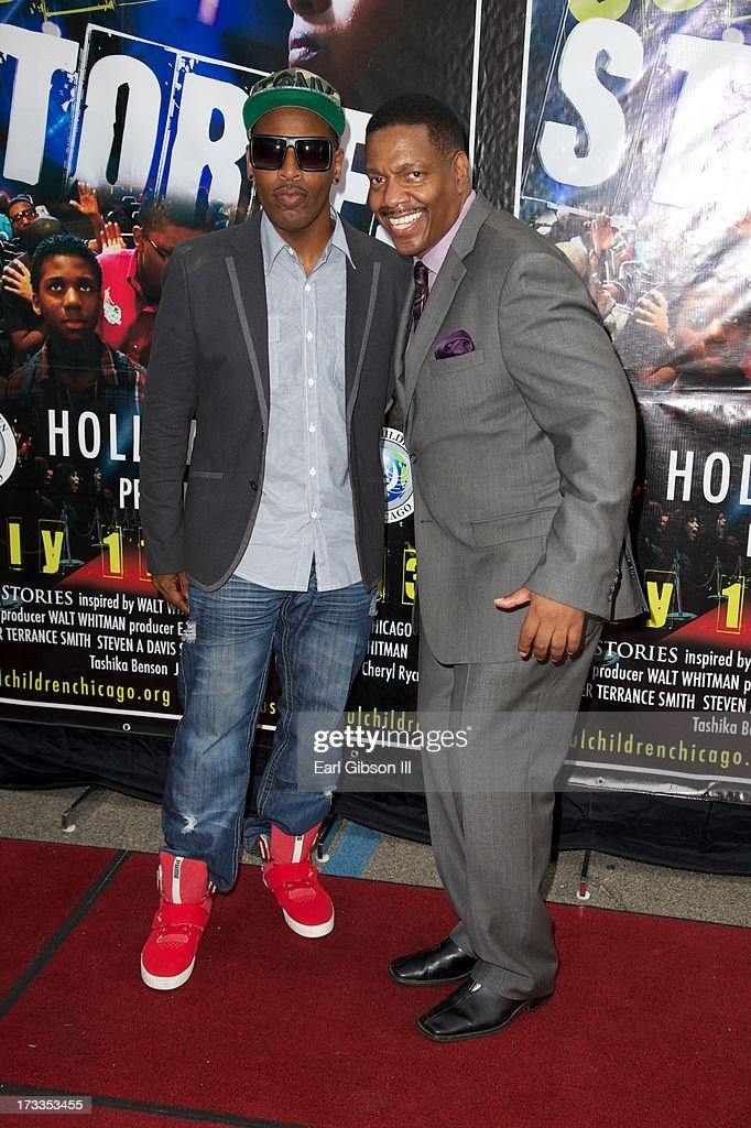 Choreographer Tony Michaels and Director Walt Whitman attend the premiere of 'Soul Children Of Chicago' at Historic American Legion - Post 43 on July 11, 2013 in Los Angeles, California.