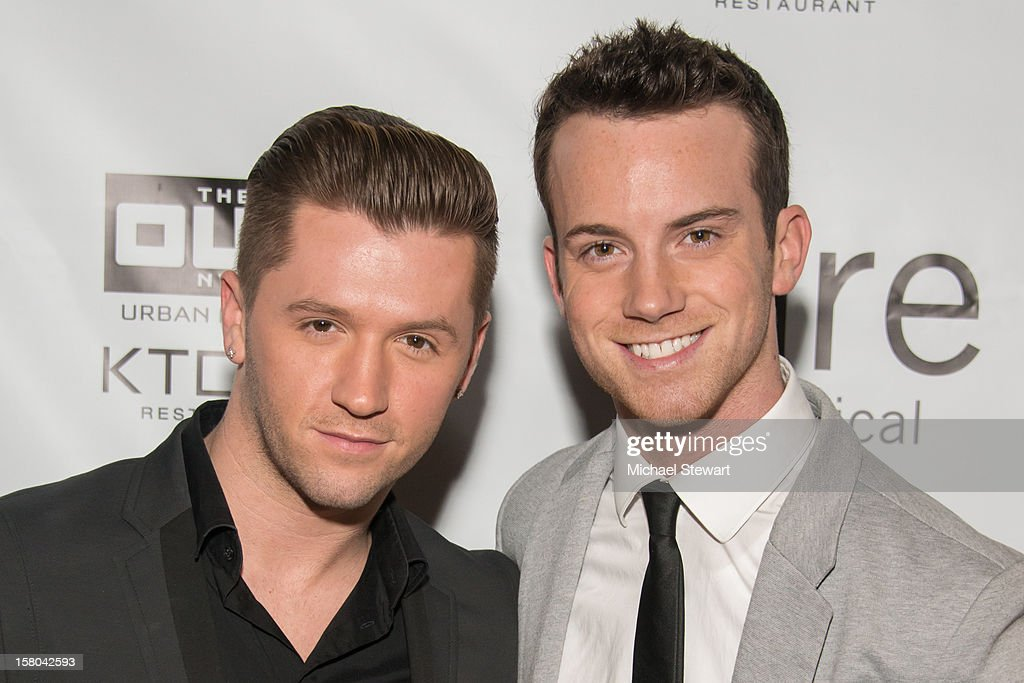 Choreographer Travis Wall (L) and Dom Palange attend 'BARE The Musical' Opening Night at New World Stages on December 9, 2012 in New York City.