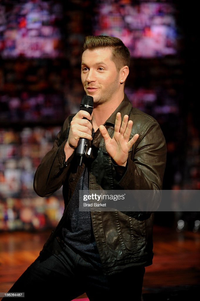 Choreographer <a gi-track='captionPersonalityLinkClicked' href=/galleries/search?phrase=Travis+Wall&family=editorial&specificpeople=736469 ng-click='$event.stopPropagation()'>Travis Wall</a> attends the 'Bare' Press Rehearsal at New World Stages on November 12, 2012 in New York City.