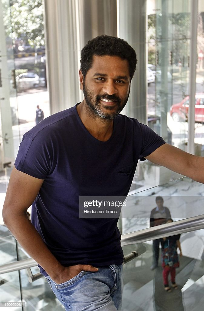 Choreographer turned Director, actor Prabhu Deva during an interview at HT House on February 6, 2013 in New Delhi, India. His upcoming movie Anybody Can Dance is releasing worldwide on February 8, 2013. It is also releasing in Tamil titled as Aadalam Boys Chinnatha Dance.