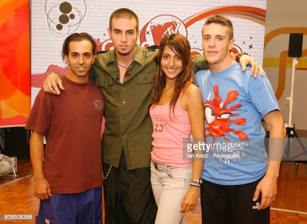 Choreographer Wade Robson poses with Spain dancers Sergi Rodriguez from Girona Alicia Fernandez from Barcelona Leo David from Argentina but...