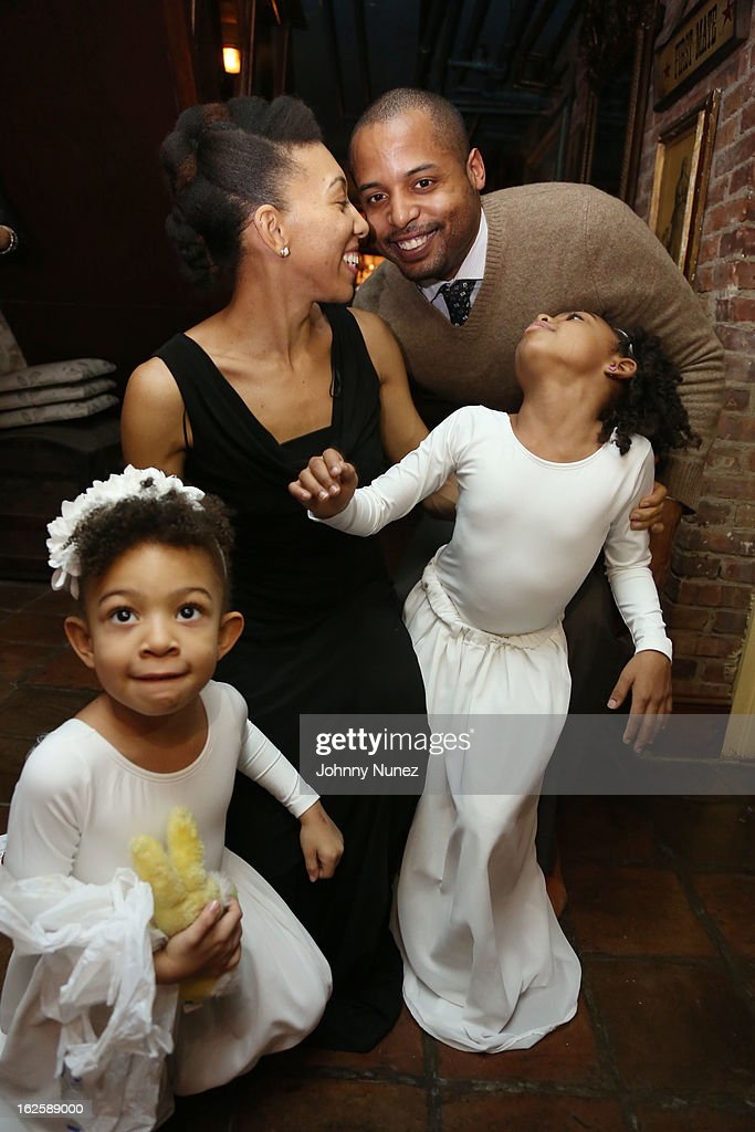 Choreographer Yauri Dalencour (back left) and family attend the 2013 Yauri Dalencour Dance Black History Month Benefit at the Moran Victorian Mansion on February 23, 2013 in New York City.