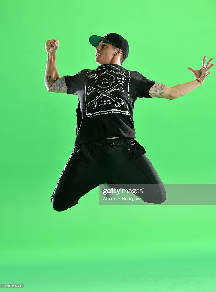 Choreographer/creative director Beau 'Casper' Smart dances behind the scenes for NUVOtv's 'A Step Away' on August 26, 2013 in Los Angeles, California.