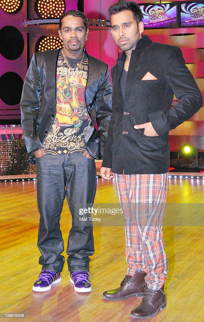 Choreographers Bosco-Caesar on the sets of the show Chak Dhoom Dhoom in Mumbai on May 18, 2010.