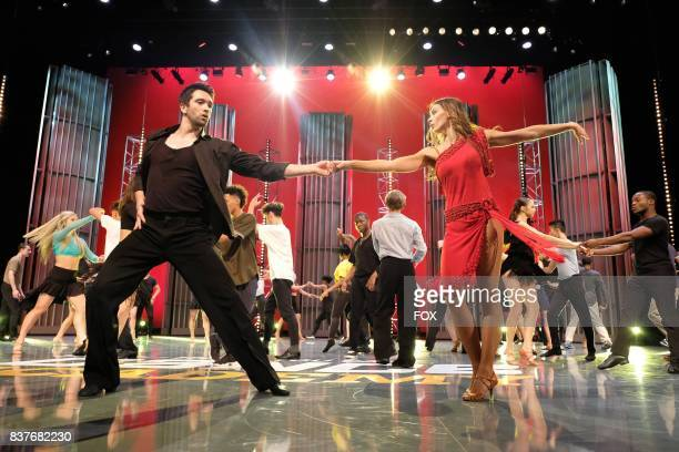 Choreographers Dmitry Chaplin and his partner teach contestants a ballroom routine during academy week airing Monday July 24 on FOX