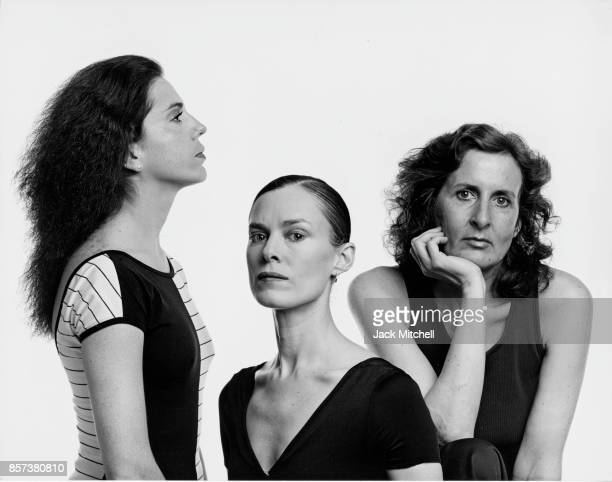 Choreographers Lucinda Childs Laura Dean and Trisha Brown photographed in 1981