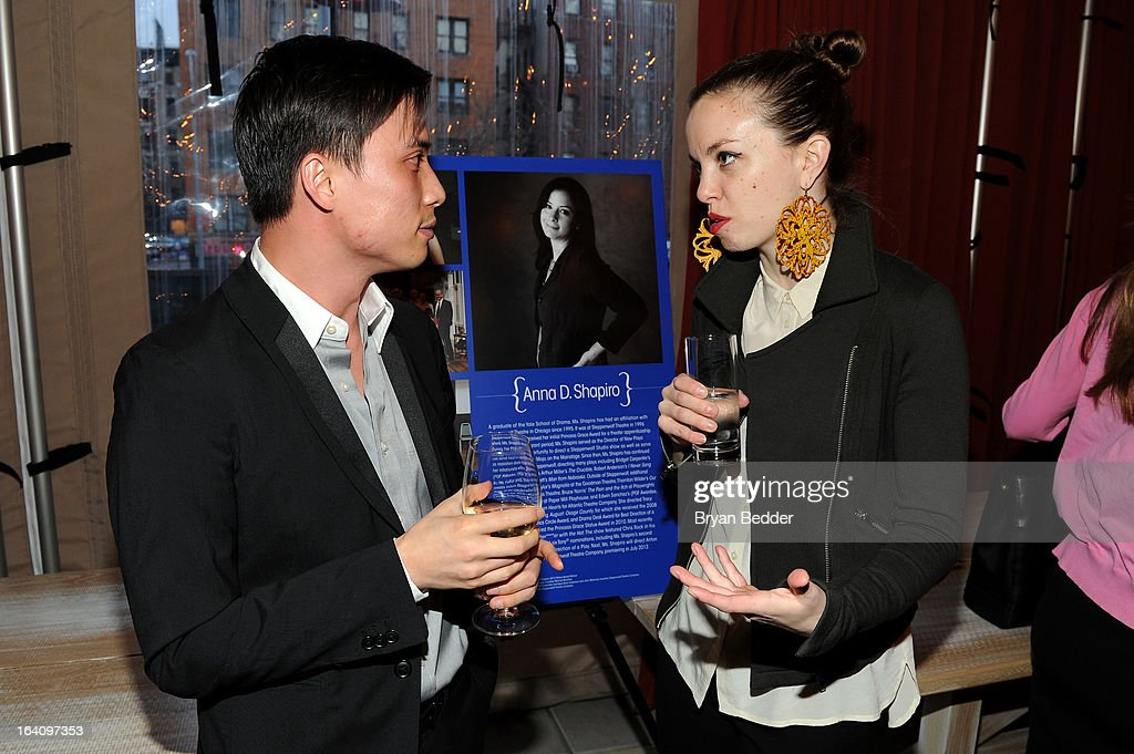 Choreographers Thang Dao and Michelle Dorrance attend the Kick Off Event for the Princess Grace Foundation - USA Guild, For Emerging Theatre, Dance & Film Artists at Blue Ribbon Kanpai Garden, Thompson LES Hotel on March 19, 2013 in New York City.