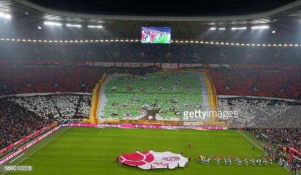 Choreographie der FC Bayern südkurve Fans zum 115 Geburtstag des FC Bayern FC Bayern München Muenchen 1 FC Köln Koeln 41 1 Fussball Bundesliga Saison...