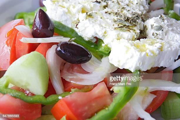 Choriadiki, a greek salad with Feta cheese