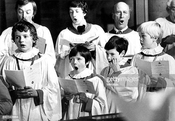 Choristers in Hexham Abbey on November 8 1979