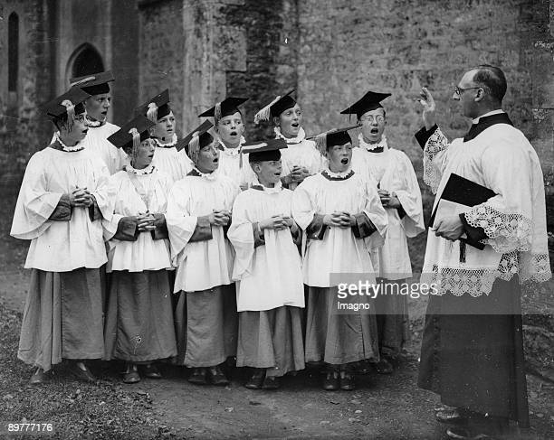 Choristers of the school 'St marys of the Angels' Photograph Around 1930