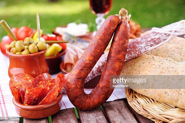 Chorizo with tapas