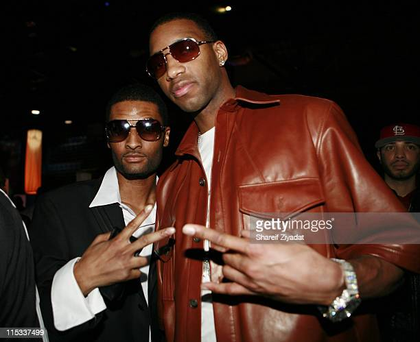 Chosen and Tracy McGrady during NBA Players Association Gala at Convention Center in Houston Texas United States