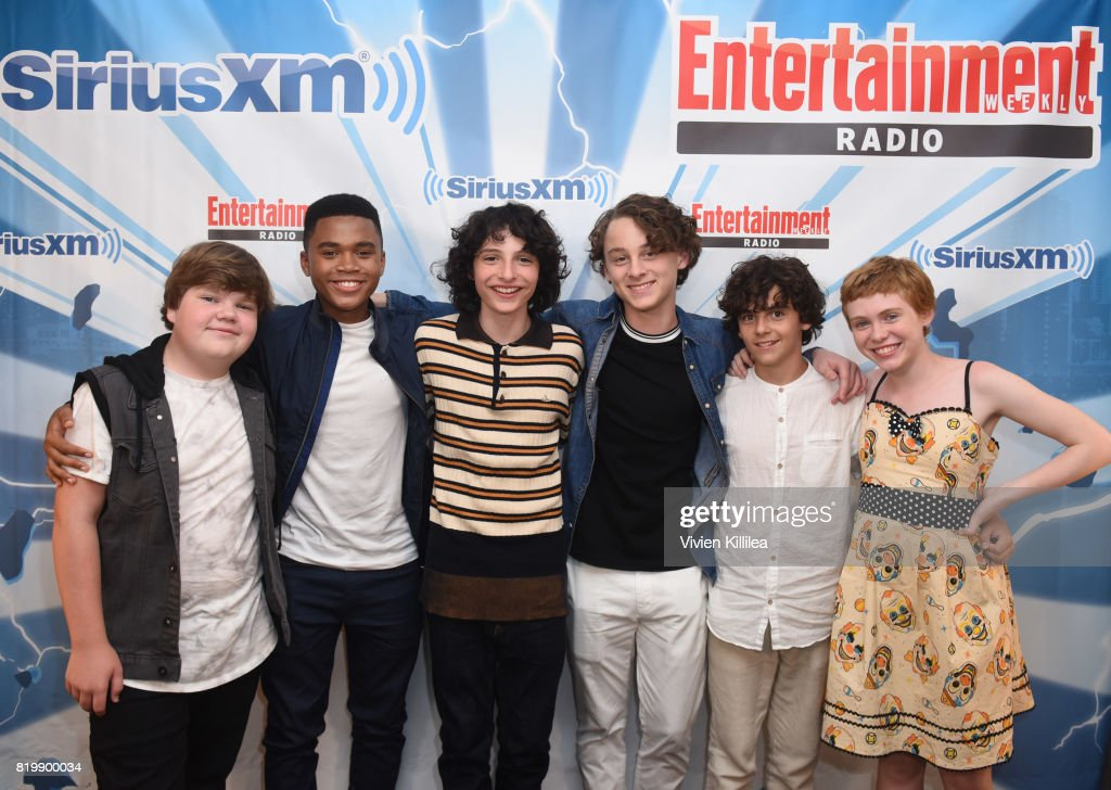 Chosen Jacobs, Jeremy Ray Taylor, Finn Wolfhard, Jack Dylan Grazer, Wyatt Oleff and Sophia Lillis attend SiriusXM's Entertainment Weekly Radio Channel Broadcasts From Comic Con 2017 at Hard Rock Hotel San Diego on July 20, 2017 in San Diego, California.