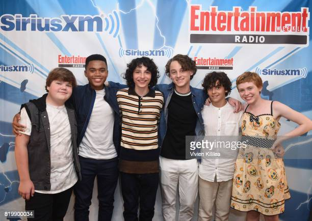 Chosen Jacobs Jeremy Ray Taylor Finn Wolfhard Jack Dylan Grazer Wyatt Oleff and Sophia Lillis attend SiriusXM's Entertainment Weekly Radio Channel...