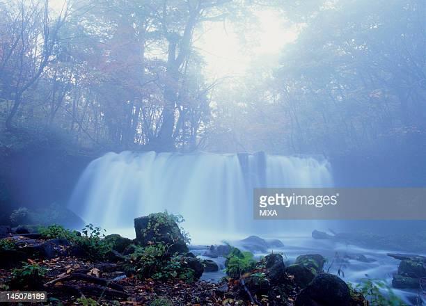 Choshi Otaki Waterfall of Oirase Stream in Autumn, Towada, Aomori, Japan