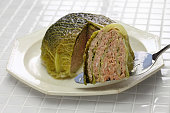 chou farci, stuffed cabbage, traditional french cuisine
