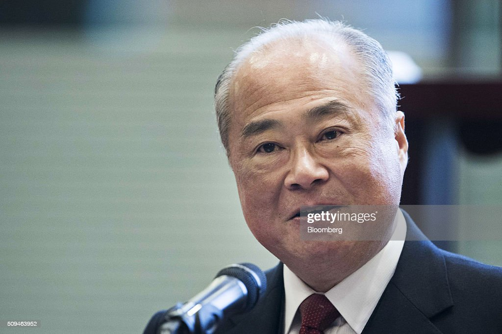 Chow Chung-Kong, chairman of Hong Kong Exchanges & Clearing Ltd. (HKEx), speaks on the first day of trading after lunar new year at the bourse in Hong Kong, China, on Thursday, Feb. 11, 2016. Hong Kong stocks headed for their worst start to a lunar new year since 1994 as a global equity rout deepened amid concern over the strength of the world economy. Photographer: Xaume Olleros/Bloomberg via Getty Images