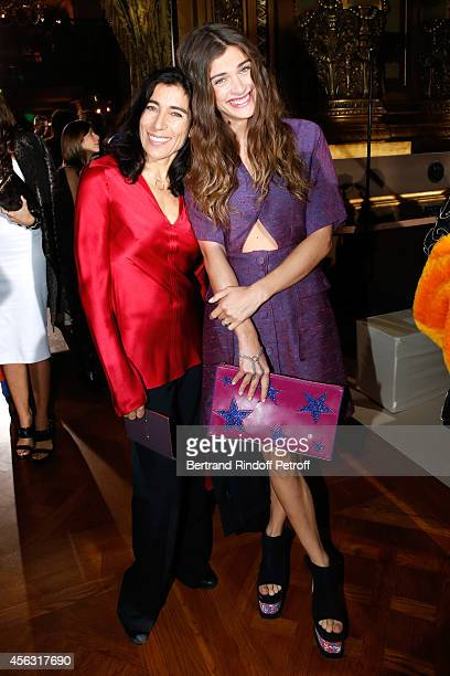 Chreographer Blanca Li and model Elisa Sednaoui attend the Stella McCartney show as part of the Paris Fashion Week Womenswear Spring/Summer 2015 on...