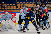 Chris Abbott of HV71 Jonkoping in action during the Champions Hockey League group stage game between HV71 Jonkoping and SonderjyskE Vojens on August...
