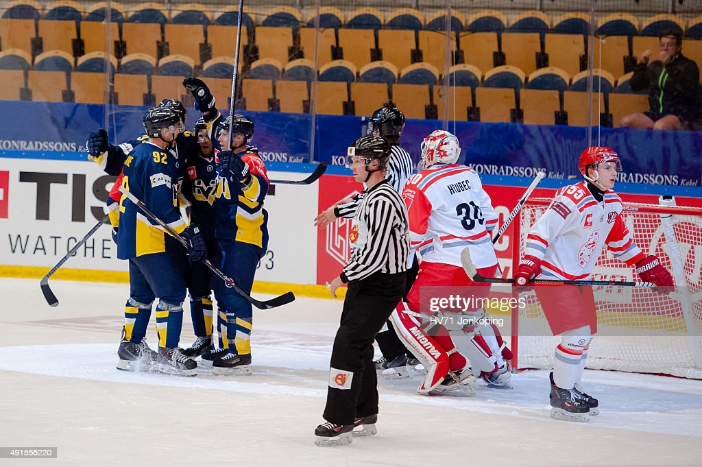 HV71 Jonkoping v Ocelari Trinec - Champions Hockey League Round Of 32