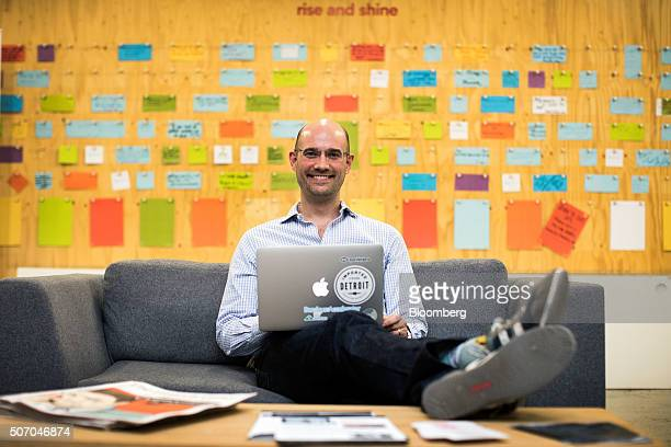 Chris Adelsbach a managing director at Techstars poses for photograph at the Rise London accelerator setup by Barclays Plc in 2003 and run in...