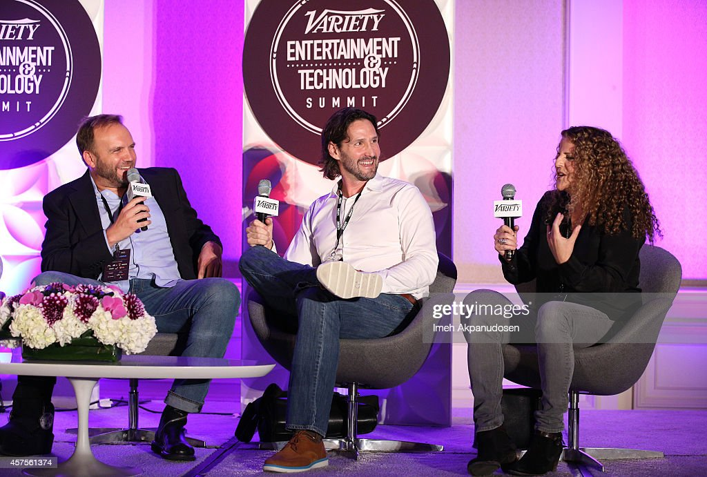 Chris Alberghini and Mike Chessler executive producers MTV's 'Awkward' and Allison Grodner executive producer CBS' 'Big Brother' speak onstage at the...