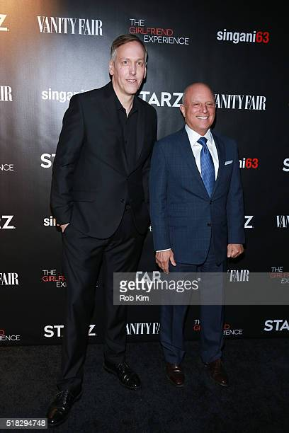 Chris Albrecht and filmmaker Lodge Kerrigan attend the New York Premiere of 'The Girlfriend Experience' at The Paris Theatre on March 30 2016 in New...