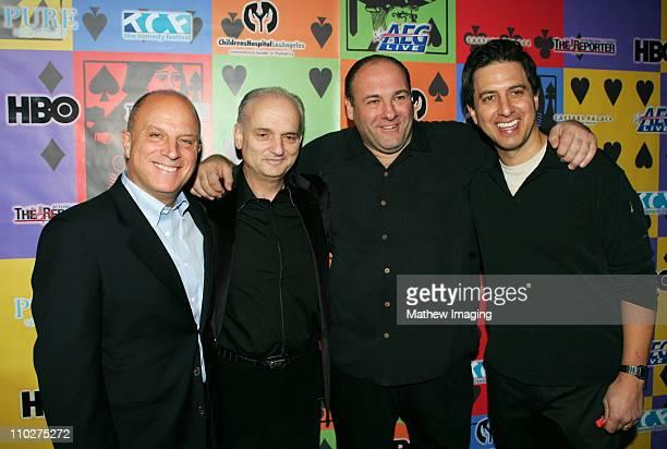 Chris Albrecht David Chase James Gandolfini and Ray Romano