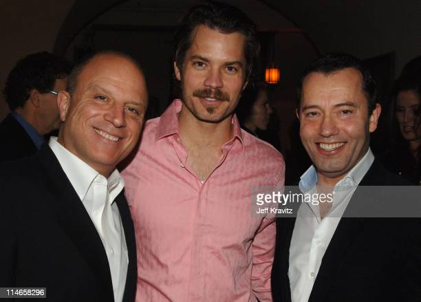 Chris Albrecht Timothy Olyphant and Colin Callender