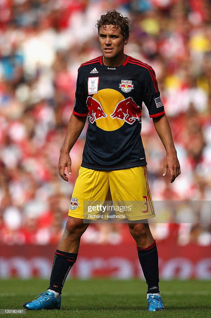 Chris Albright of New York Red Bulls looks on during the Emirates Cup match between Arsenal and New York Red Bulls at the Emirates Stadium on July 31, 2011 in London, England.