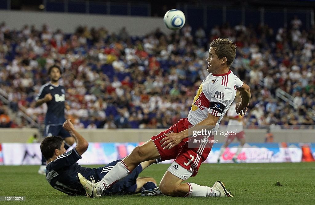 <a gi-track='captionPersonalityLinkClicked' href=/galleries/search?phrase=Chris+Albright&family=editorial&specificpeople=178253 ng-click='$event.stopPropagation()'>Chris Albright</a> #3 of the New York Red Bulls in action against the Vancouver Whitecaps FC at Red Bull Arena on September 10, 2011 in Harrison, New Jersey.