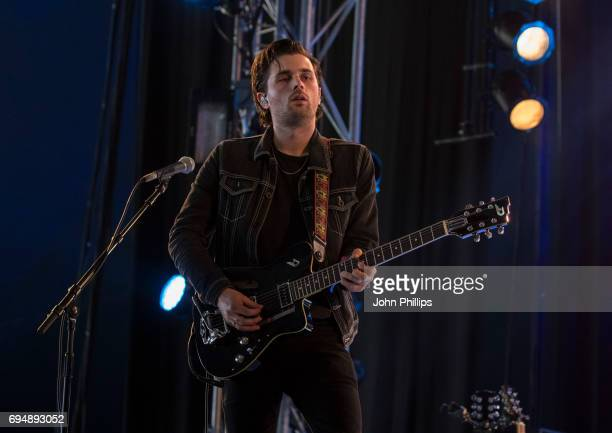 Chris Alderton from the Amazons performs on day 4 of The Isle of Wight festival at Seaclose Park on June 11 2017 in Newport Isle of Wight
