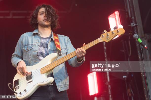 Chris Alderton of English rock band The Amazons performs on stage during TRNSMT Festival Day 3 at Glasgow Green on July 9 2017 in Glasgow Scotland