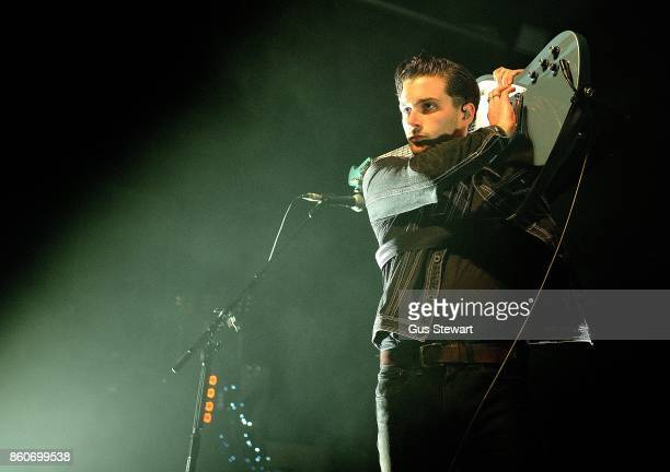 Chris Alderton of The Amazons perform at The Forum on October 12 2017 in London England