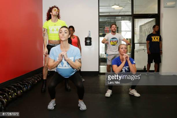 Chris 'Ammo' Hall Kailah Casillas and Jenna Compono train during The Challenge XXX Ultimate Fan Experience at Exceed Physical Culture on July 17 2017...