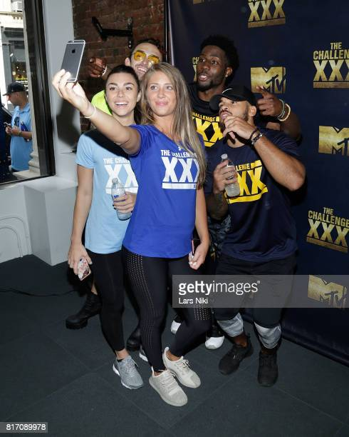 Chris 'Ammo' Hall Kailah Casillas Jenna Compono Derrick Henry and Cory Wharton attend The Challenge XXX Ultimate Fan Experience at Exceed Physical...