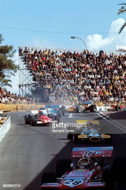 Chris Amon Jack Brabham Jacky Ickx JeanPierre Beltoise Denny Hulme MarchFord 701 BrabhamFord BT33 Ferrari 312B Matra MS120 McLarenFord M14A Grand...