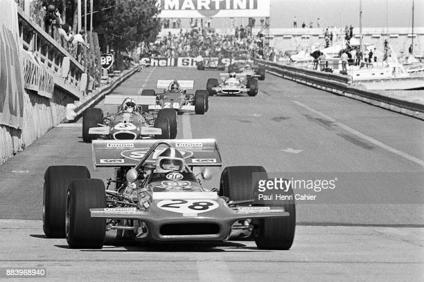 Chris Amon Jack Brabham Jacky Ickx JeanPierre Beltoise MarchFord 701 BrabhamFord BT33 Ferrari 312B Matra MS120 Grand Prix of Monaco Circuit de Monaco...